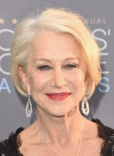 Helen Mirren B.o.B - Helen Mirren kept it classic with this platinum-blonde bob at the Critics' Choice Awards.