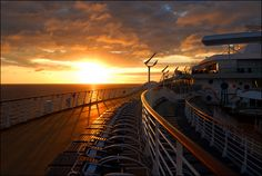 Sunset off Allure of the Seas.
