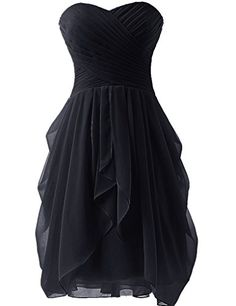 Dress U Womens Ruched Bridesmaid Dress Short Prom Dresses Black US 2 Dress U http://smile.amazon.com/dp/B00V7WP7DA/ref=cm_sw_r_pi_dp_4Fpwwb0PE2MQV