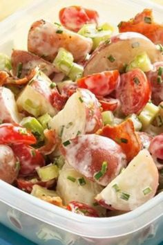 How can potato salad get better? Add bacon. Delicious!