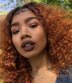 black girl with red hair, colorful hair inspiration, curly colored hair