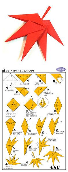 DIY origami Maple manually