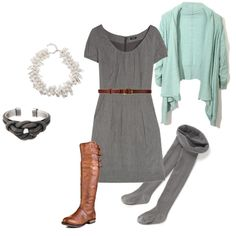 Love the gray with the brown!! Oooh I can SOOOO see myself wearning this! <3