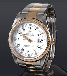 Reloj Rolex Date Acero y Oro Caballero 15223