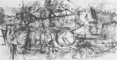 E. Besozzi pitt. 1964 Ricordi di viaggio china su carta cm 25x49 arc. 916