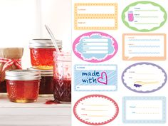 customize your Mason jars with our free printable labels – perfect for home canning #printable #canning #masonjar