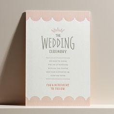 結婚式 招待状 Apple soda|LOUNGE WEDDINGの結婚式 招待状 Paper Goods, Letterpress, Wedding Ceremony, Wedding Invitations, Marriage, Place Card Holders, Typo, Pink, Cards