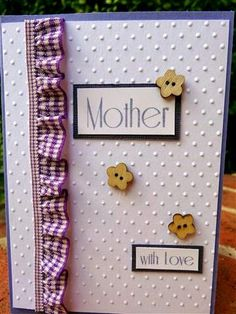 Mother's Day card  www.craftqueen.com.au