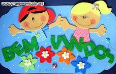 painel-de-bem-vindos-feito-em-eva-com-moldes-mural-volta-as-aulas-decoracao-da-sala.jpg (581×373)