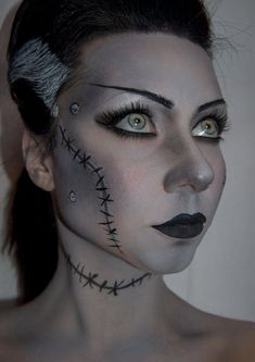 bride of frankenstein halloween makeup this is
