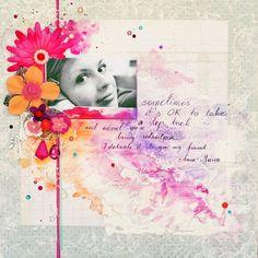 Prima layout by Anna-Maria Wolniak using Ruby Violet