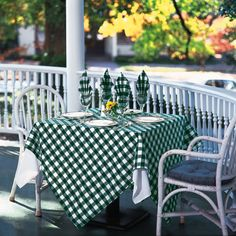 The Milliken Fancy Checkpoint green and white polyester tablecloths include 3 tablecloths and are sized at square. A personal touch on those special occasions. A great performing fabric with a casual, classic pattern makes a bold statement. Outdoor Rooms, Outdoor Decor, Outdoor Events, Family Style Restaurants, Wholesale Linens, Green Tablecloth, Linen Towels, Elegant Table, Table Linens