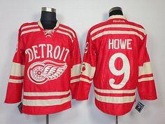 2013 Detroit Red Wings #9 Gordon Howe Red NHL Jerseys