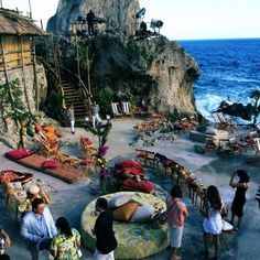 Capri, Italy - Dolce & Gabbana Alta Moda Show Autumn/Winter 2014 Wedding Lounge, Wedding Reception, Wedding Seating, Chic Wedding, Mediterranean Wedding, Destinations, Rustic Italian, Italian Style, Capri Italy