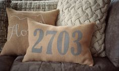 Hey, I found this really awesome Etsy listing at https://www.etsy.com/listing/263520200/house-number-pillow-address-pillow