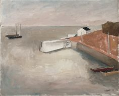William Scott, Harbour, 1939, Oil on canvas, 51 × 61.3 cm / 20 × 24¼ in, Private collection