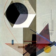 El Lissitzky 'PROUN 99 'Black Relation' 2013 Seems like a lot of El Lissitzky's work uses intricate geometric subjects as in this piece. His use of color and layers create depth. Wassily Kandinsky, Abstract Expressionism, Abstract Art, Modern Art, Contemporary Art, Illustrations, Illustration Art, Arte Popular, Bauhaus