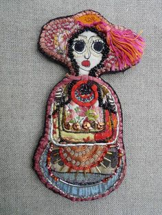 J aime Impression Textile, Art Textile, Textiles, Mexican Folk Art, Patch Quilt, Fibres, Collage Art, Fiber Art, Art Dolls