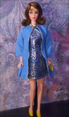"Mod Era Barbie - Twist n' Turn Barbie - ""Marlo Flip"" - Auburn"