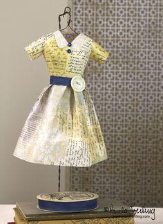 Paula Joerling Studio: Things I Make Paper Dress Art, Paper Dresses, Little Dresses, Nice Dresses, Awesome Dresses, Dresses Dresses, Paper Collage Art, Paper Art, Paper Crafts