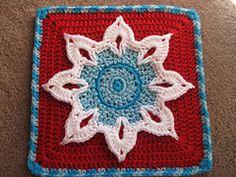 Crochet Sunflower 12 inch Square free pattern.