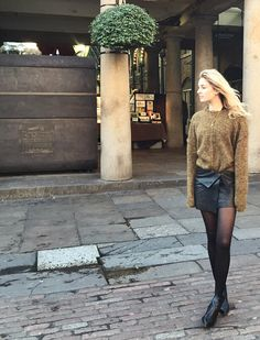 Skirt: Isabel Marant || Knit: Isabel Marant || Boots: Acne Studios || Shirt: Equipment