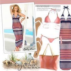 Here's how to complete the gorgeous @kbprada look from head to toe #LadyLux #LadyLuxSwimwear #TGIF #LuxLife #bikinis #luxuryswimwear #beachwear #designerbikinis