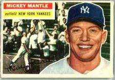 1956 Topps Mickey Mantle New York Yankees Baseball Card for sale online Baseball Card Boxes, Baseball Cards For Sale, Baseball Card Collectors, Batting Average, Willie Mays, Mickey Mantle, Sports Baseball, Basketball Scoreboard, Baseball Equipment