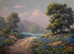 Dalhart Windberg - Hill Country Trail - 18x24 - Fredericksburg Art Gallery - www.FbgArtGallery.com