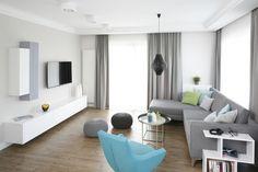 Szary salon: 20 pięknych wnętrz  - zdjęcie numer 2