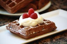 Double Chocolate Whole Wheat Raspberry Waffles - Peanut Butter & Julie blog