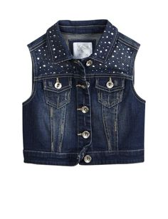 Girls Clothing | Jackets & Vests | Embellished Denim Vest | Shop Justice