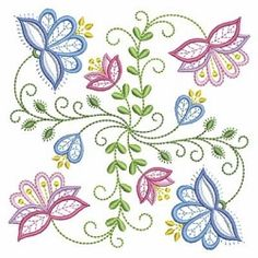 Vintage Jacobean Quilt 4, 6 - 3 Sizes! | What's New | Machine Embroidery Designs | SWAKembroidery.com Ace Points Embroidery