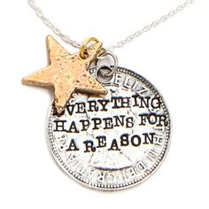Everything happens for a reason. #necklace #alisamichelle