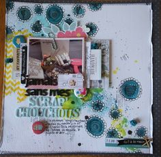 Asokascrapper - Scrapbooking page - Mixed media background