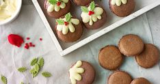 Christmas baking recipes including cupcakes, biscuits, chocolate stars and macarons. Christmas Pudding, Christmas Treats, Christmas Baking, Christmas Cookies, Christmas 2019, Chocolate Stars, White Chocolate, Macaron Recipe, Buttercream Cake