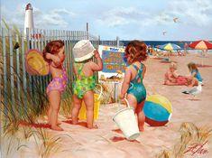 Beach Babies - Seaside Adventure Donald Zolan (1937 – 2009, American)