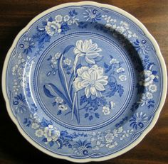 Decorative Dishes - Cobalt Blue Toile Transferware Daffodil Exotic Plate, $34.99 (http://www.decorativedishes.net/cobalt-blue-toile-transferware-daffodil-exotic-plate/)