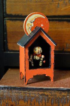 Crescent Moon & Star Theater Halloween Folk Art by Melissa Valeriote - love this!!