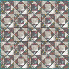 Indelible Grace economy blocks  two fabric economy block quilt idea...