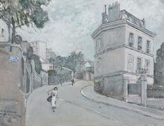 La rue Radignan, Montmartre by Max Jacob   Blouin Art Sales Index