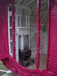 gypsy caravan...I would love to have one. I don't know why but I love them!