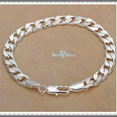 *NEW* 925 SS SIDEWAYS BRACELET *NEW* 925 STAMPED STERLING SILVER BRACELET Metal Type.            925 Sterling Silver Chain Type.            Link Chain Metal Type.             Silver Clasp.                        Lobster Style.                          Sideways EXCELLENT GIFT FOR YOURSELF OR FOR VALENTINES DAY! Jewelry Bracelets