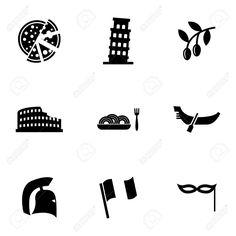 Resultado de imagen para italy vector icon blanco y negro