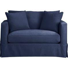 cindy crawford home beachside blue denim sofa denim sofa cindy crawford and blue denim. Black Bedroom Furniture Sets. Home Design Ideas