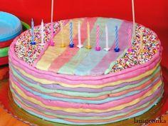 Τούρτα ουράνιο τόξο! Zucchini Bread, Carrot Cake, Birthday Cake, Pumpkin, Sweets, Baking, Desserts, Blog, Foods
