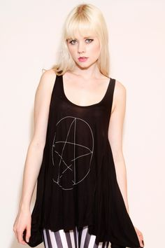 WITCH DRAWING TANK TOP - United Couture