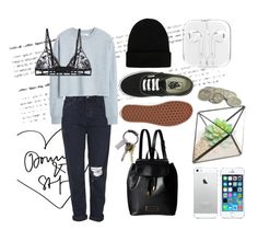 """Sst"" by yuliakuli ❤ liked on Polyvore featuring Marc by Marc Jacobs, Topshop, MANGO, Christies, NLY Accessories, Vans and CB2"