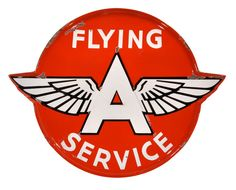 A Flying A service sign, c. 50s