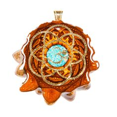 (NOT SAME AS PINNED IMAGE) Fume Implosion Glass with Seed of Life Multi-Glow | Third Eye Pinecones